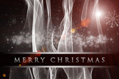 Fantastic Christmas wave design with snowflakes Stock Image