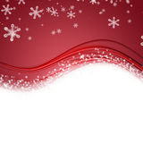 Fantastic Christmas wave design with snowflakes Royalty Free Stock Image