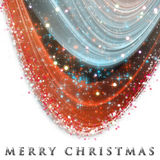 Fantastic Christmas wave design with snowflakes and stars Stock Images