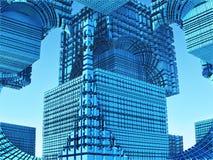 Fractal background, abstract 3D illustration. Fantastic city, 3D rendering, fractal abstract design Royalty Free Illustration