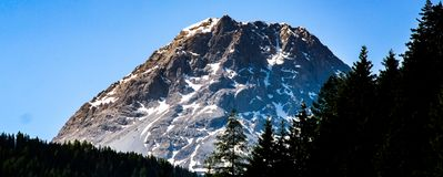 Fantastic close up view of the mountain stock images