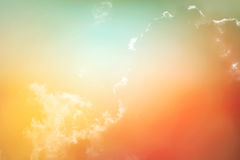 Fantastic cloud and sky with color filter. Fantastic cloud and sky with vivid color filter royalty free stock image