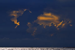 Fantastic clouds. In the sky Royalty Free Stock Photo