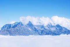 Fantastic cloudscape above the mountains. Stock Photos