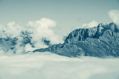 Fantastic cloudscape above the mountains. Royalty Free Stock Image