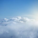 Fantastic cloudscape and sun. Royalty Free Stock Photos