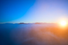Fantastic cloudscape and sun. Stock Photography