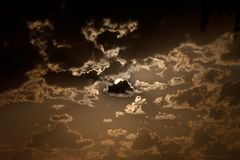 Fantastic cloudscape at sunset Royalty Free Stock Photo