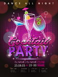 Fantastic cocktail party poster design Stock Photos