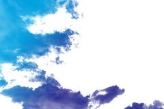 Fantastic color clouds. On white background, nature abstract background royalty free stock images