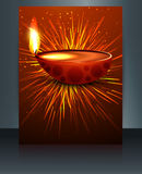 Fantastic colorful diwali diya template Stock Photos