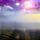 Fantastic colorful sunrise Stock Images