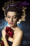 Fantastic creative fashion woman Royalty Free Stock Photography
