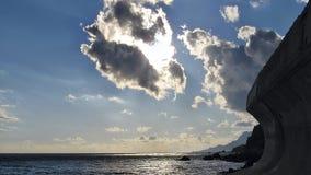 Fantastic Crimean landscape. Frozen waves of nature and human activity Stock Images