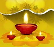 Fantastic diwali card rangoli design Royalty Free Stock Image