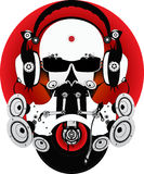 Fantastic DJ. With glasses and headphones. Drawing can be used on CD and posters Stock Photography