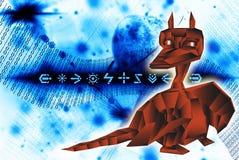 Fantastic dragon-symbol 2012 New Years. Stock Photos