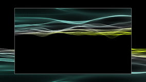 Fantastic eco animation with wave object in motion and space for your text, loop HD 1080p stock footage