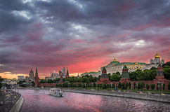 Fantastic Evening in Moscow Stock Photo