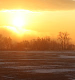 Fantastic evening winter landscape Royalty Free Stock Images