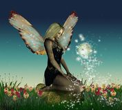 Fantastic fairy flowered Stock Image
