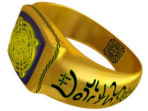 Fantastic fantasy a gold ring Royalty Free Stock Photography