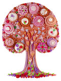 A fantastic fantasy tree-cake stock photos