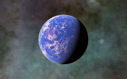 Fantastic far away Exo Planet Stock Image