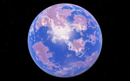 Fantastic far away Exo Planet Royalty Free Stock Image