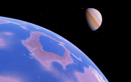 Fantastic far away Exo Planet Royalty Free Stock Photos