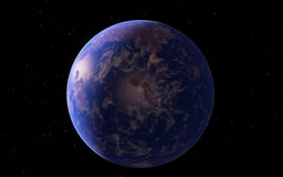 Fantastic far away Exo Planet Stock Photography