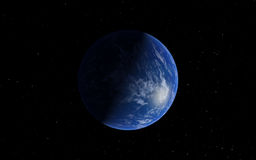 Fantastic far away Exo Planet Stock Photos