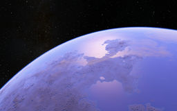 Fantastic far away Exo Planet Stock Photo