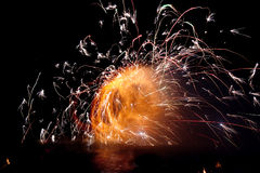 Fantastic Fire Show Stock Images