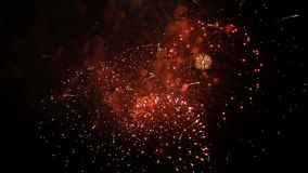 Fantastic Fireworks Exploding On Black Background stock video footage