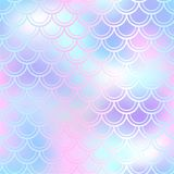 Fish skin seamless pattern. Mermaid scale background. Pastel fishscale Royalty Free Stock Images