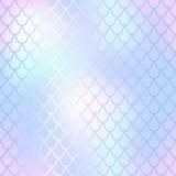 Fish skin seamless pattern. Mermaid scale background. Soft fishscale. Fantastic fish skin  background with scale pattern. Mermaid pattern. Pale gradient mesh Stock Image