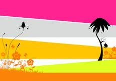 fantastic floral illustration vektor illustrationer