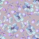 Fantastic floral pattern. For textile and paper stock illustration