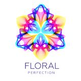 Fantastic flower, abstract shape with lots of blending lines. Fantastic flower icon, abstract shape with lots of blending lines and gradient color. Vector Royalty Free Stock Photos