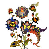 Fantastic flowers. Bunch of fantastic, decorative flowers. Vector illustration Stock Photography