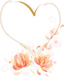 Fantastic flowers heart frame Stock Photography