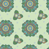 Fantastic flowers. pastel color. vector pattern Royalty Free Stock Photo