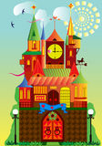 Fantastic fortress. Illustration of a fantastic fortress Royalty Free Stock Images