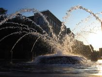 Fantastic Fountain. Cleverly designed fountain shoots water in all directions; Charleston, South Carolina Stock Image