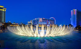 Fantastic Fountain. A beautiful popular fountain in Las Vegas stock photography