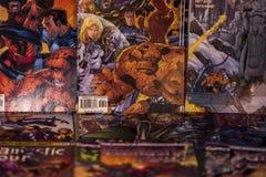 Fantastic Four Marvel comics superheroes Stock Image