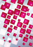 Fantastic Fractal Design. Pink squares on a white Royalty Free Stock Images