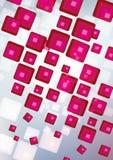 Fantastic Fractal Design. Pink squares on a white. Pink squares on a white background Royalty Free Stock Images