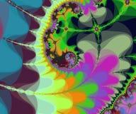Fantastic fractal spiral in delicate colours. Digital computer graphic - fantastic fractal spiral in delicate colours for design Stock Image